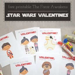 Printable Star Wars The Force Awakens Valentines by saynotsweetanne