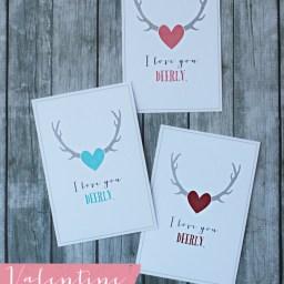 Valentine Printables- I Love You Deerly by Landeelu