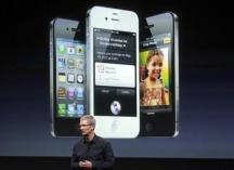 Tim Cook presenting iPhone 4s