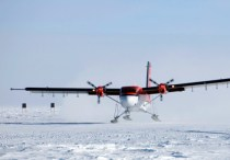 Starting to fly over Antarctica