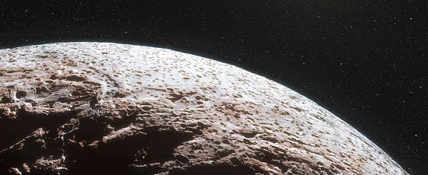 Artist's rendition of the dwarf planet Makemake (Credit: Nick Risinger and L. Calçada, ESO)