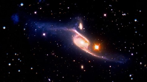 Composite image of the spiral galaxy NGC 6872 (Credit: NASA's Goddard Space Flight Center/ESO/JPL-Caltech/DSS)
