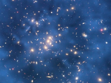 Dark matter is an undetected mass in the universe (Credit: NASA, ESA, M.J. Jee and H. Ford (Johns Hopkins University))