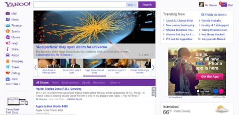 Yahoo new version