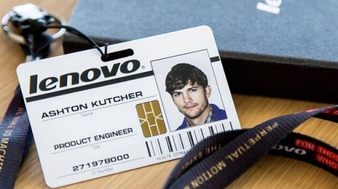 Lenovo and Ashton Kutchr (Credit: Lenovo)