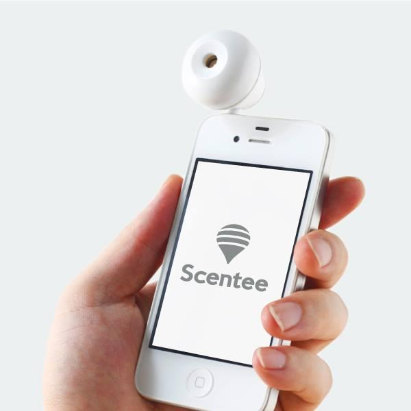 Product to produce scents upon messages (source: Scentee)