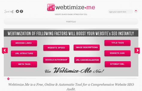 Webtimize.Me SEO Audit Tool