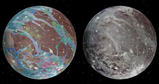 Ganymede Globe (Image Credit: USGS)