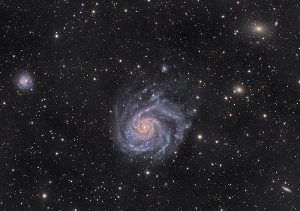 Galaxy M101, an example of a 'flat' galaxy. (Credit: Fabian Neyer, Stemwarte Antares.)