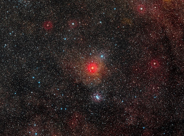 The field around yellow hypergiant star HR 5171 (Credit: ESO/Digitized Sky Survey 2)