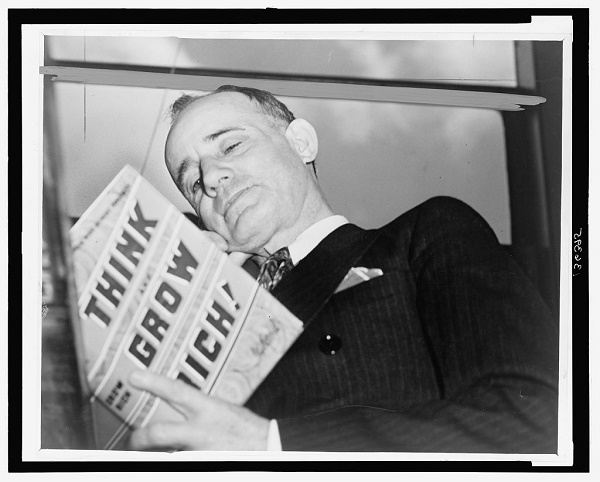 Napoleon Hill reading Think and Grow Rich (Image credit: loc.gov)