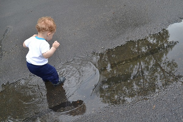 Child in water