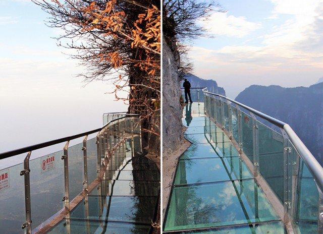 Glass walkway 'bridge' at china's tianmen mountain park (Image Credit: dingyun juan)