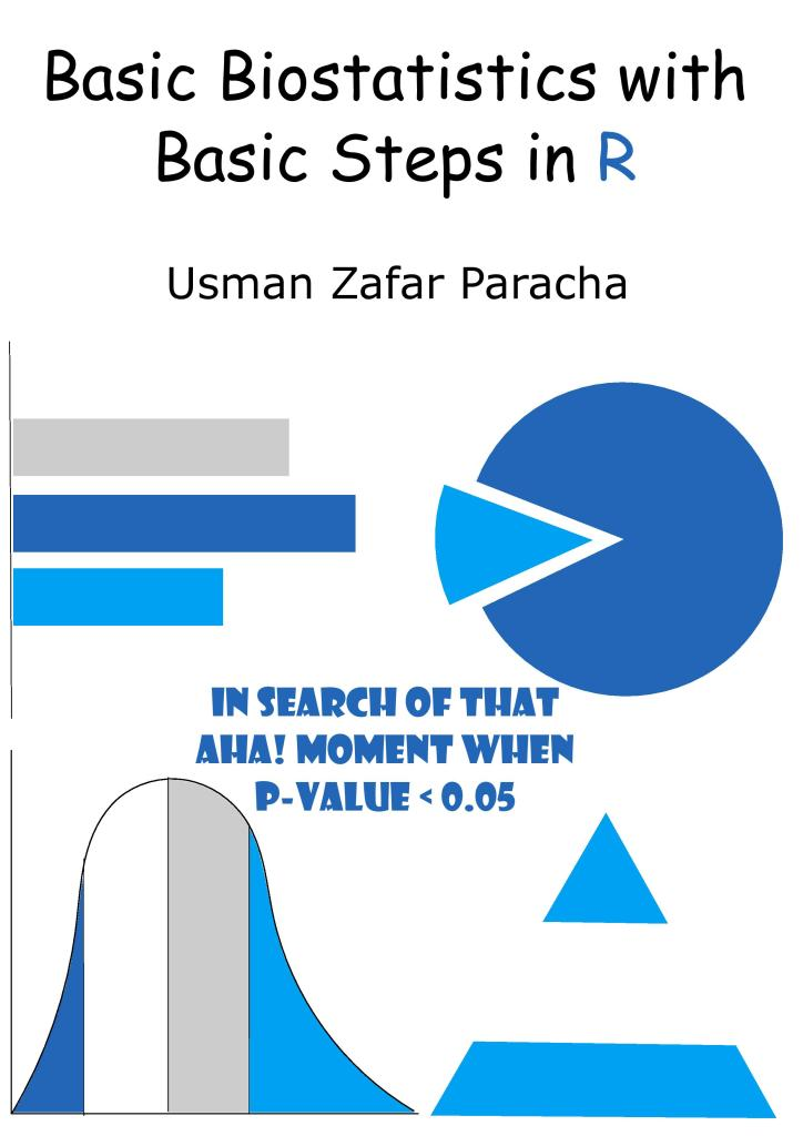 "Cover page of ""Basic Biostatistics with Basic Steps in R"""