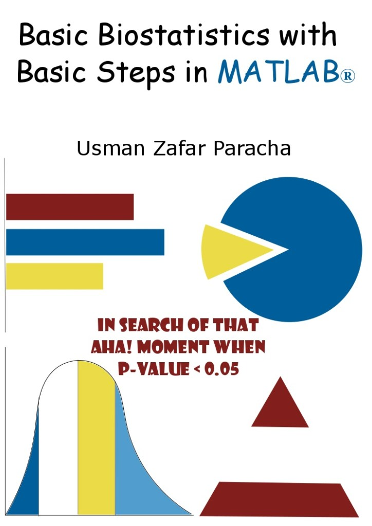 """Basic Biostatistics with Basic Steps in MATLAB®"" - Cover Page"