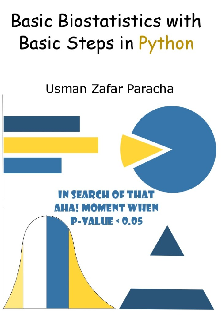 "Cover page of ""Basic Biostatistics with Basic Steps in Python"""