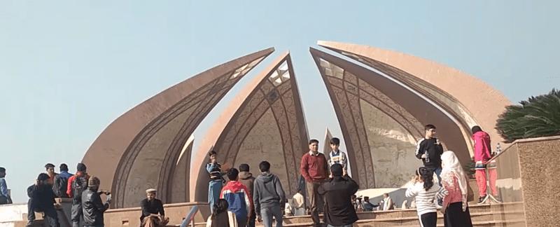 Pakistan Monument with four petals