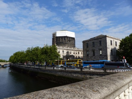 The Four Courts, undergoing building work.