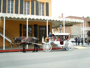 Horse carriage at Old Sacramento, California.