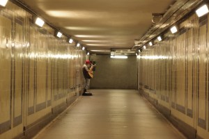 Busker at Marble Arch Station