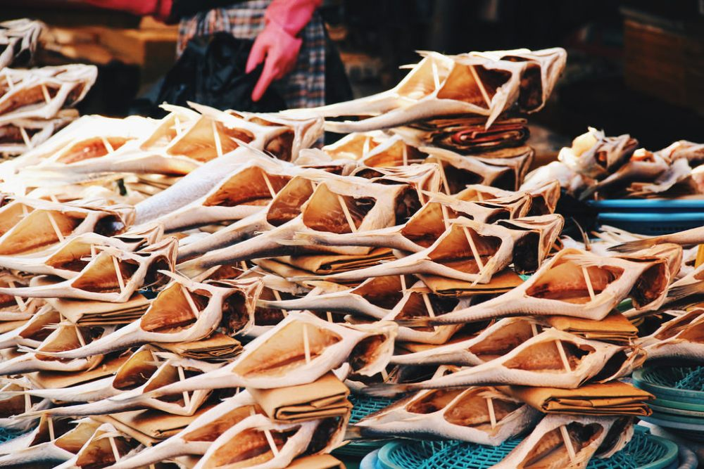 Dried fish at Busan Jagalchi Market (부산 자갈치시장)