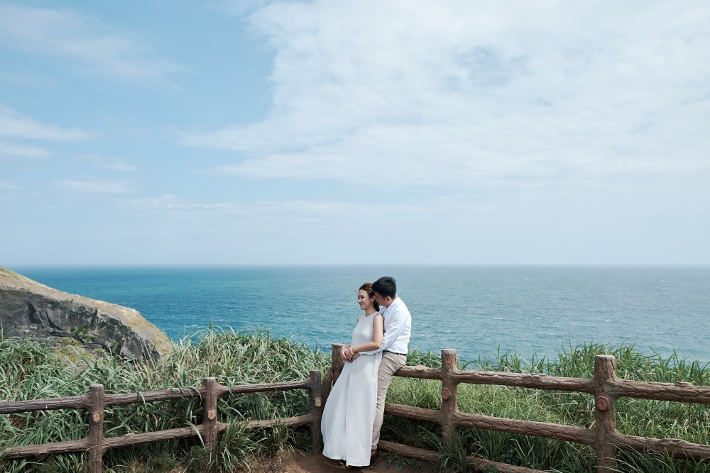 Pre wedding couple photoshoot in Jeju South Korea | Shi Min & Malcolm
