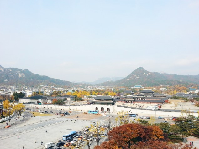 View of 경복궁 (Gyeongbokgung) from 대한민국 역사박물관, Seoul