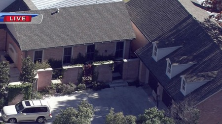 Birds eye view of former President George W. Bush's new postpresidency bunker in Preston Hollow, where Bush remains holed up