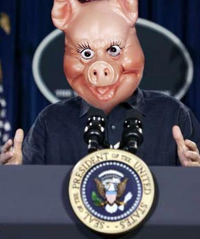 """""""Read my lips (which one day become hotdog ingredinets): I am not to blame for the swine flu."""""""
