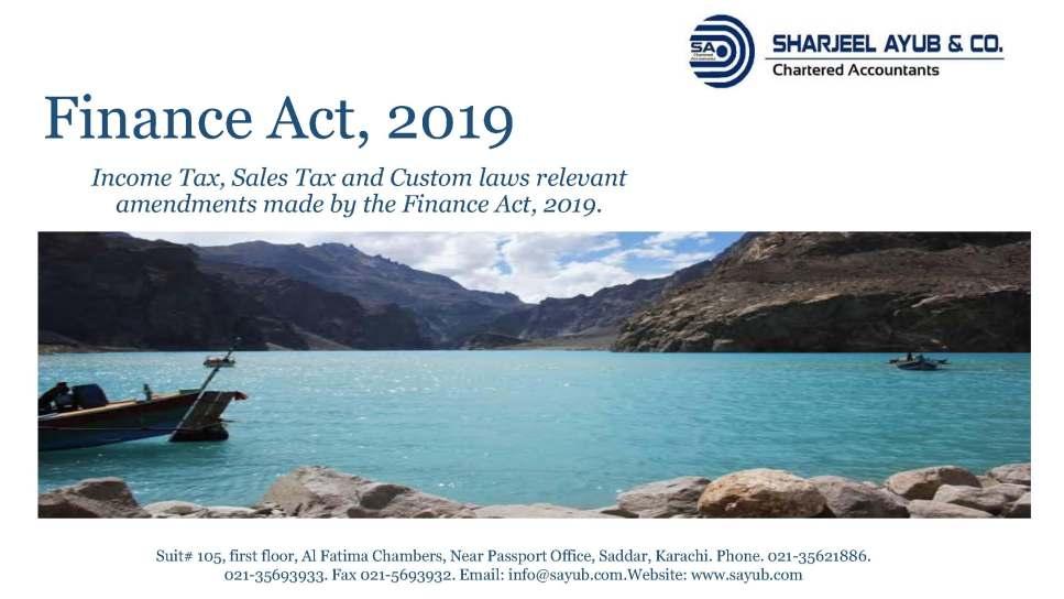 Finance Act 2019