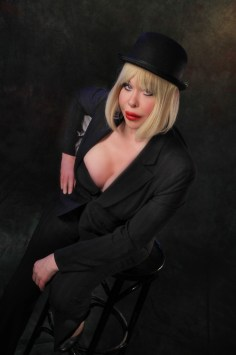 Every Wednesday night, Canadian trans gender entertainer and Club120 co-ower, Mandy Goodhandy, hosts the club's open mic night.