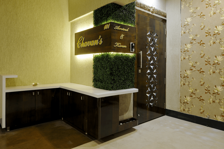Residential Project - Entrance Main Door & Lobby Interior Design by Sayyam Interiors