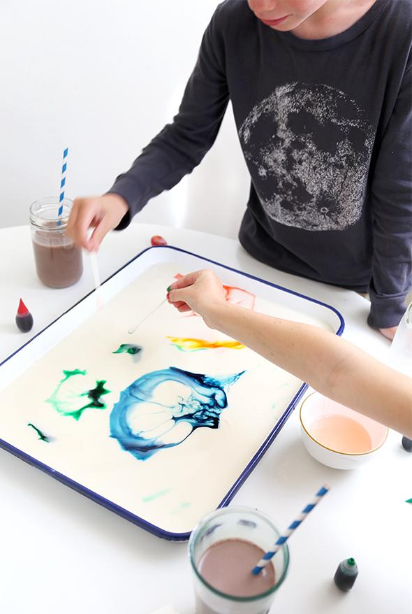 how to make milk art