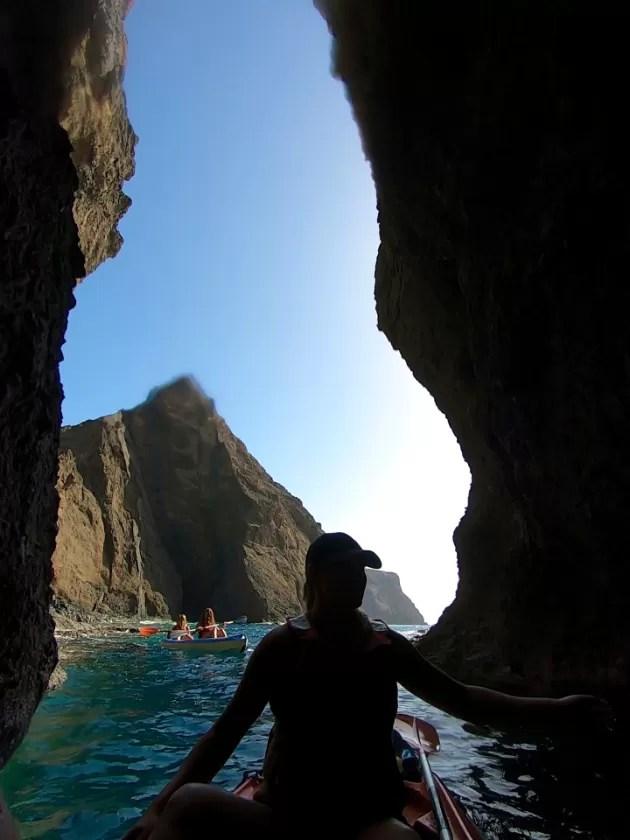 Kayak sur l'île de Madère et Porto Santo, Portugal. Kayak et visites de grottes au Portugal - mieux que les visites de grottes en kayak de Benagil!