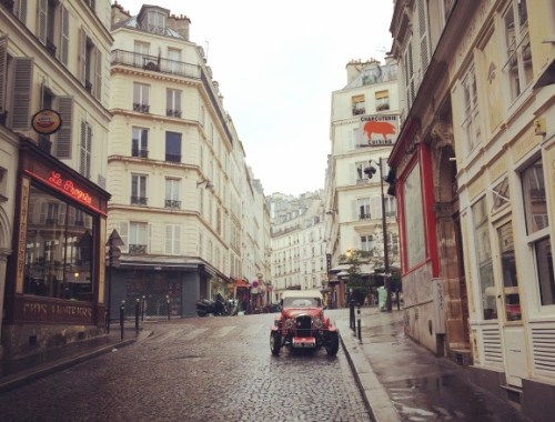 Rainy street in Paris