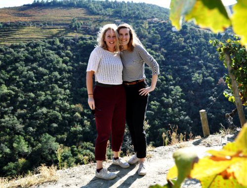 Sanne & Evelien in Douro Valley