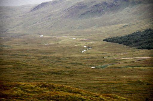 Scottish landscape on the West Highland Way