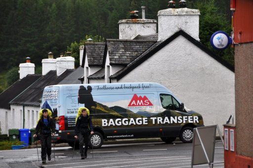 AMS luggage service on the West Highland Way
