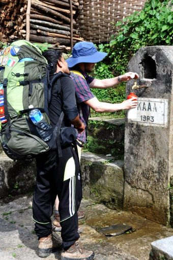 Water sources along the Poon Hill trail