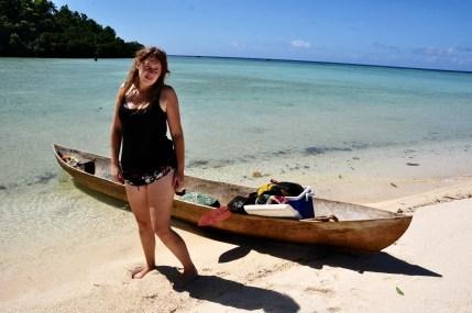 Beach in Marovo Lagoon, Solomon Islands