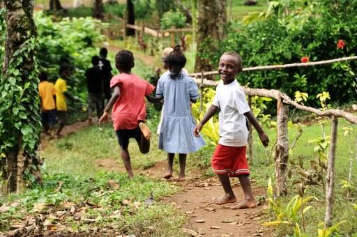 School kids, Marovo Lagoon, Solomon Islands