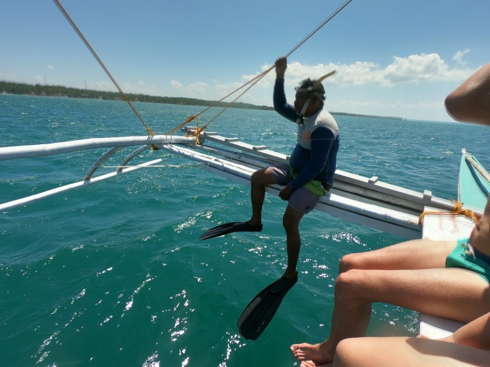 Whale shark boat tour Donsol Philippines