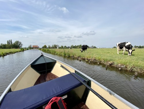 Day trip to Amsterdam's countryside - boating in Waterland