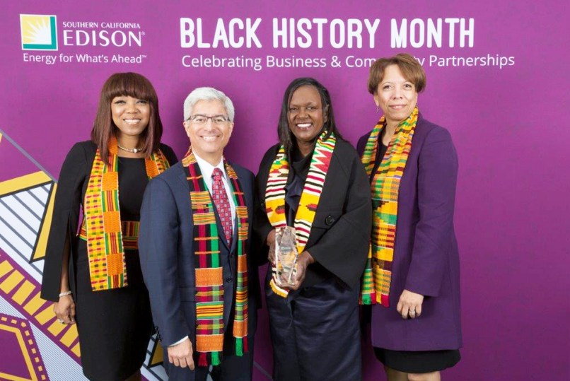 Doris Robinson, second from right, executive director., The CSULB-LBUSD Math Collaborative.