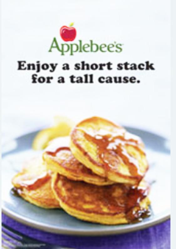Applebees flapjack breakfast