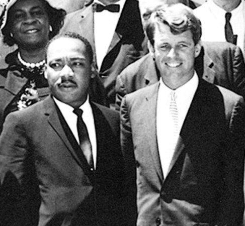 """22 June 1963 - Martin Luther King meets with Attorney General, Robert F Kennedy. White House. Credit: Abbie Rowe, National Park Service/JFK Library, Boston""""."""