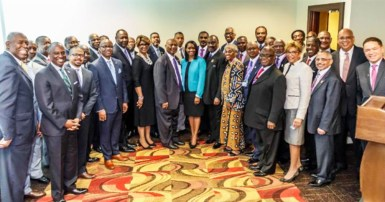 AME Church Bishops pose with Black bankers and business leaders after announcing historic partnership. PHOTO: Klarque Garrison/Trice Edney News Wire