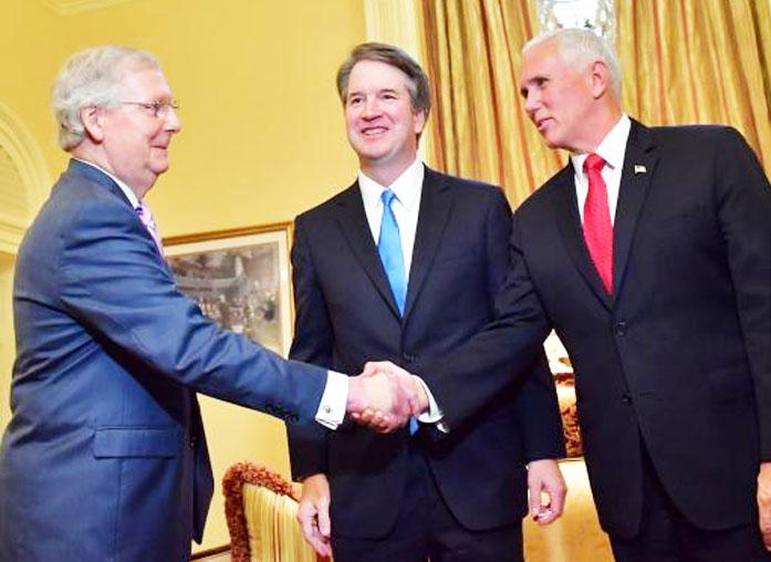 Kavanaugh visits senate