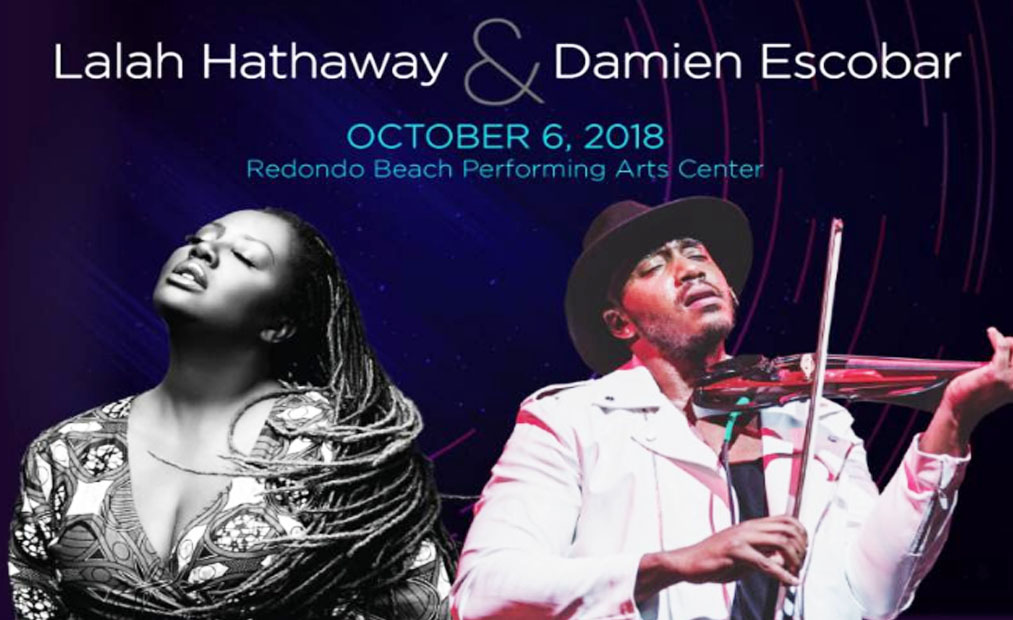 LaLah Hathaway and Damien Escobar