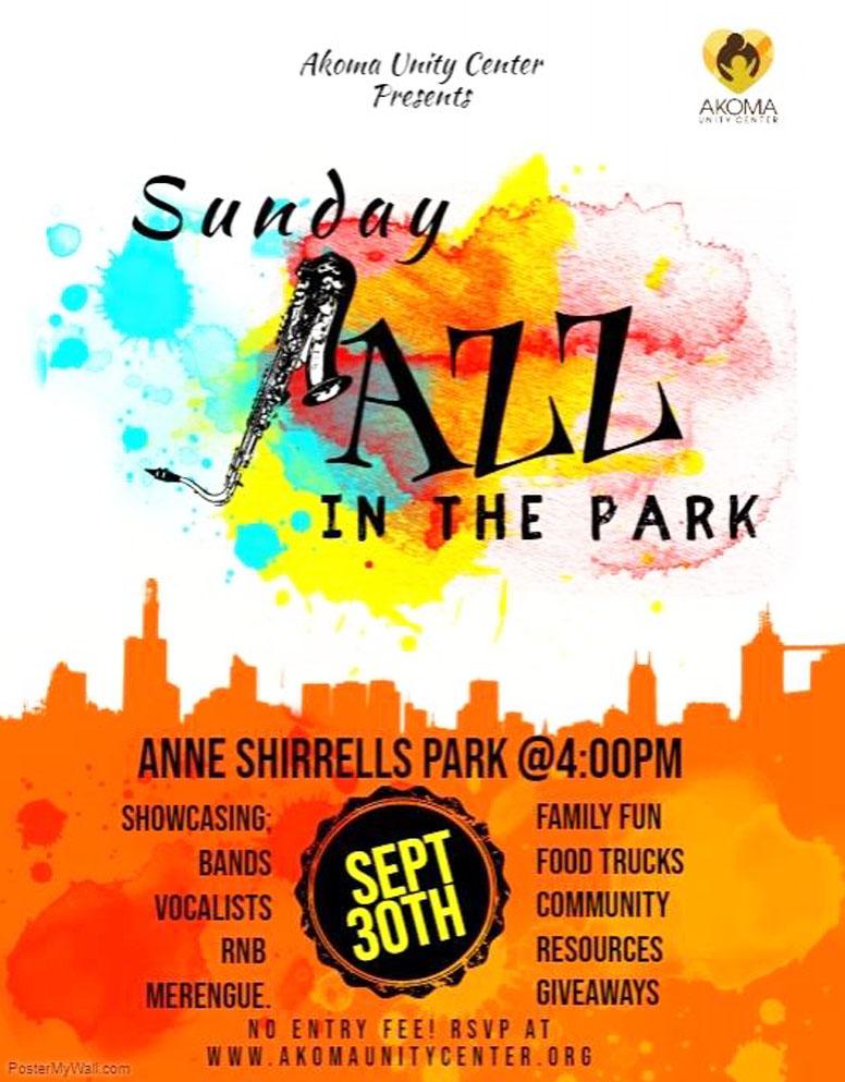 Jazz In Park flyer